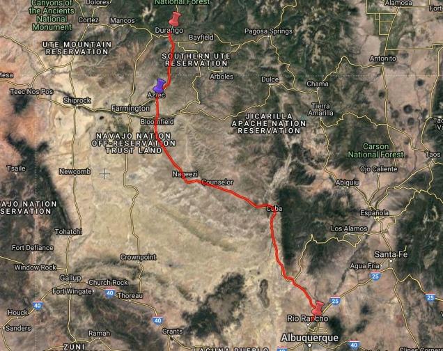 to Durango